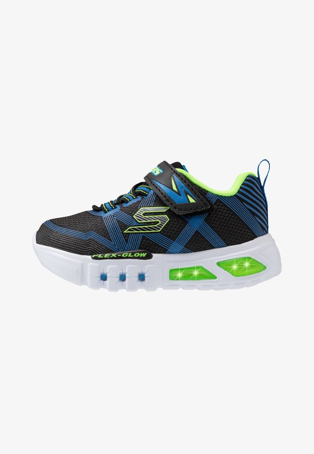 FLEX-GLOW - Matalavartiset tennarit - black/blue/lime