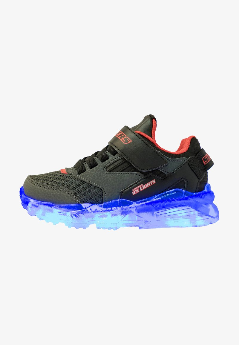 Skechers - ARCTIC-TRON - Trainers - charcoal/black/red