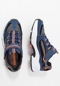 Skechers - STAMINA - Trainers - navy/black/charcoal/orange - 0