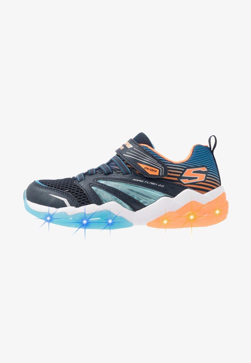 Skechers - RAPID FLASH 2.0 - Tenisky - navy/orange/blue