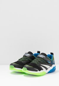 Skechers - RAPID FLASH 2.0 - Tenisky - black/blue/lime - 2