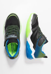 Skechers - RAPID FLASH 2.0 - Tenisky - black/blue/lime - 1