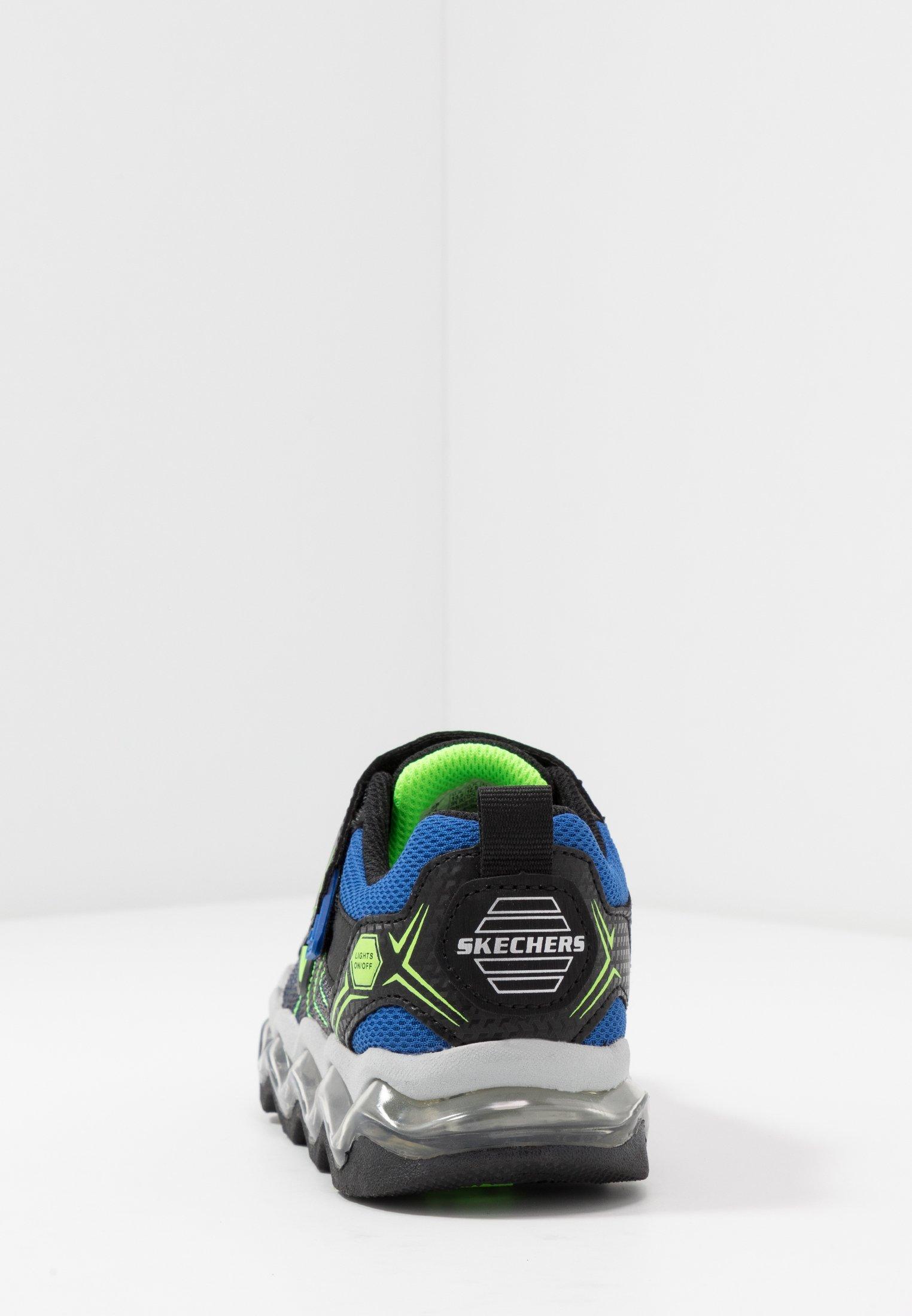 Skechers TURBOWAVE - Sneakersy niskie - black/blue/lime