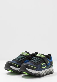 Skechers - TURBOWAVE - Baskets basses - black/blue/lime