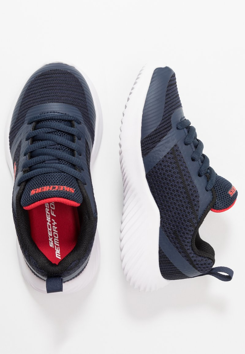 Skechers - BOUNDER - Trainers - navy/black/red