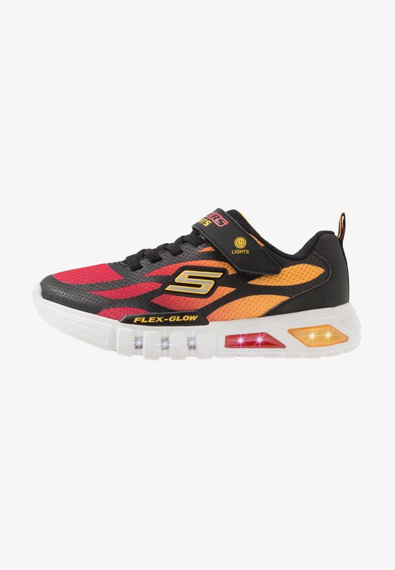 Skechers - FLEX-GLOW - Tenisky - black/red/orange