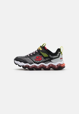 SKECH AIR WAVES - Baskets basses - black/red/lime