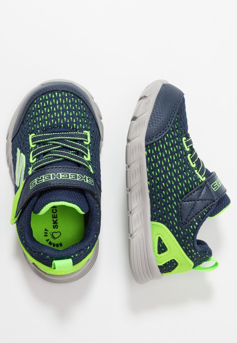 Skechers - COMFY FLEX - Trainers - navy/lime/silver