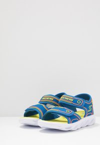 Skechers - HYPNO-SPLASH - Walking sandals - blue/lime/orange - 3
