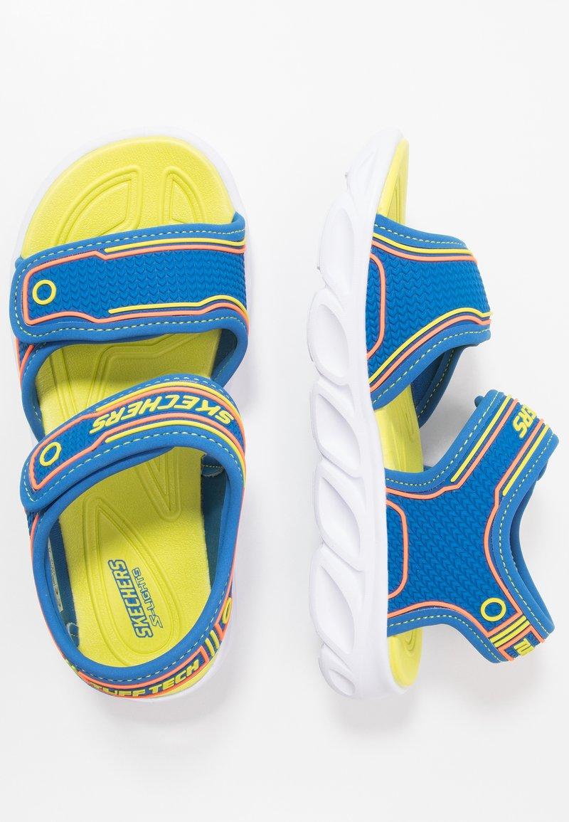 Skechers - HYPNO-SPLASH - Walking sandals - blue/lime/orange