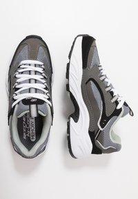 Skechers - STAMINA - Tenisky - charcoal/black - 0