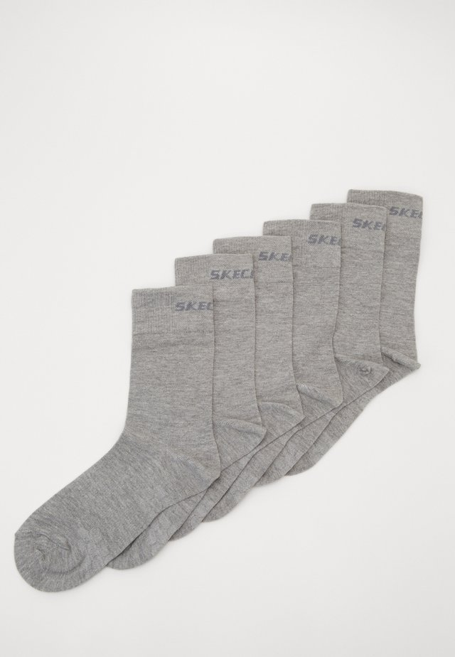 BASIC SOCKS VENTILATION 6 PACK - Sukat - light grey melange