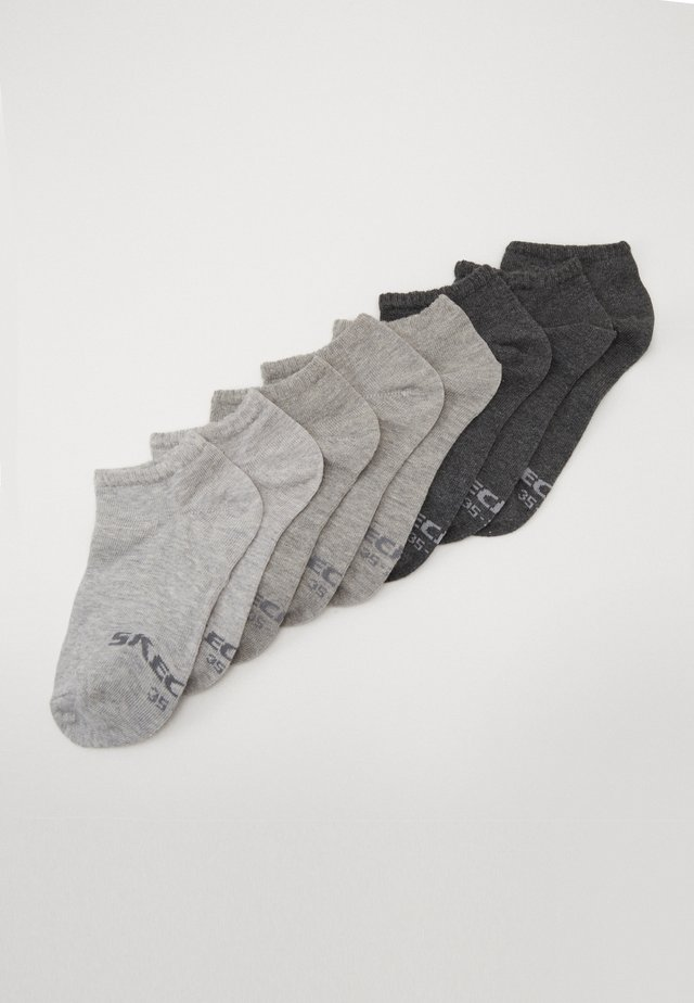 ONLINE CASUAL WOMEN BASIC SNEAKER 8 PACK - Ponožky - fog melange