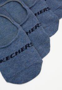 Skechers - BASIC FOOTIES VENTILATION 6PACK - Calcetines tobilleros - denim melange - 2