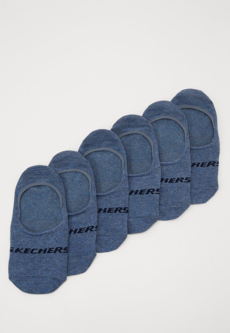 Skechers - BASIC FOOTIES VENTILATION 6PACK - Calcetines tobilleros - denim melange