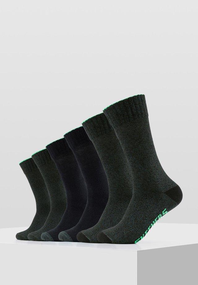 6PACK - Socks - black mix
