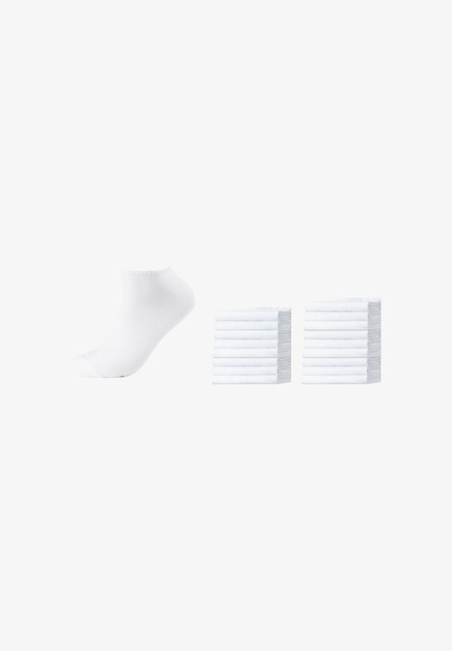 18 pack - Trainer socks - white
