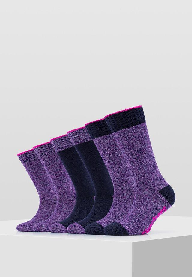 6 PACK - Socks - blue mix