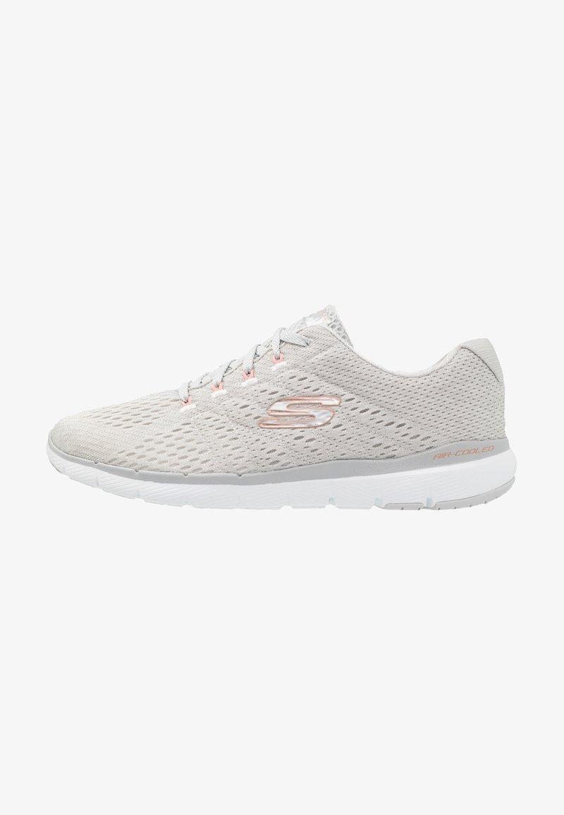 Skechers Sport - FLEX APPEAL 3.0 - Sneakers laag - light gray/rose gold