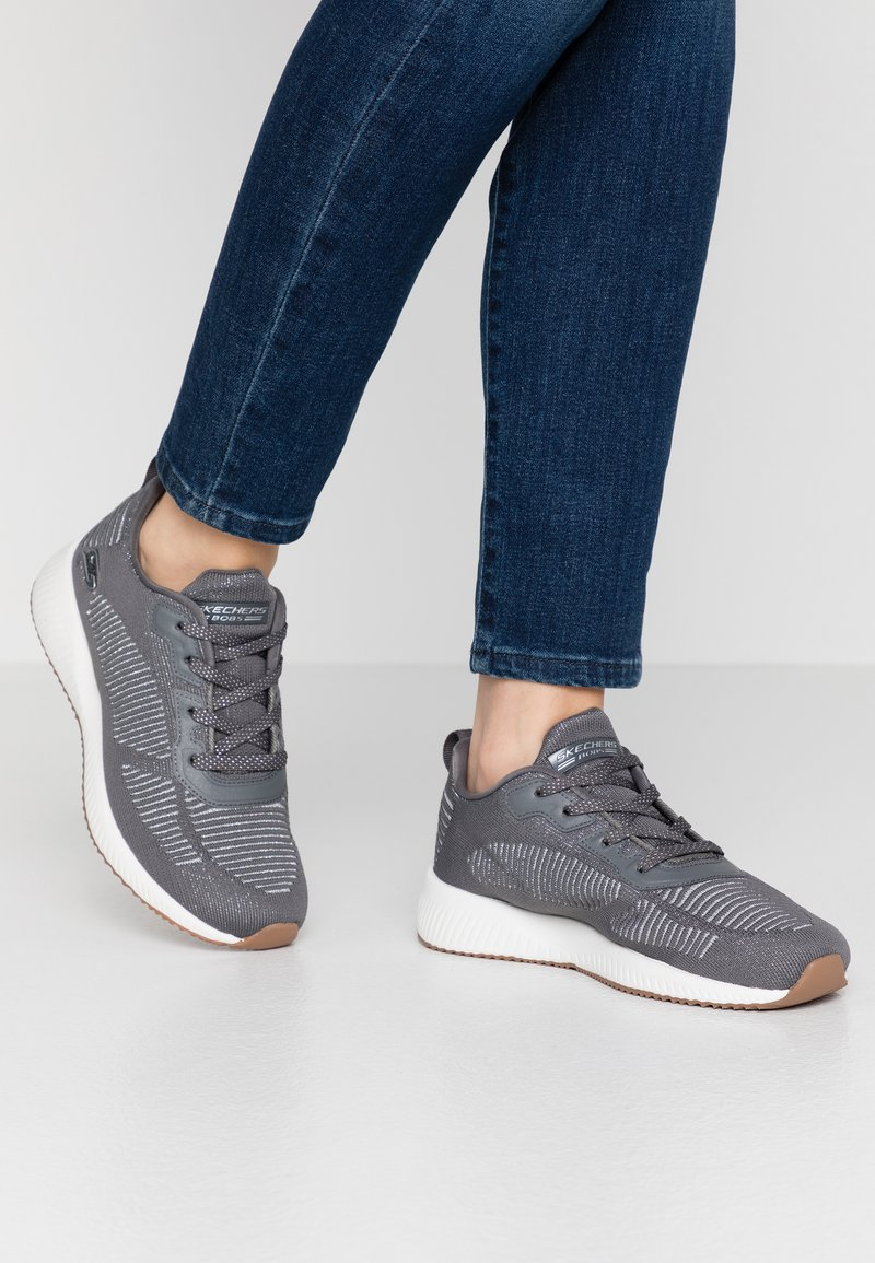 Skechers Sport - BOBS SQUAD - Sneakers laag - gray/silver