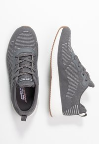 Skechers Sport - BOBS SQUAD - Sneakers laag - gray/silver - 3