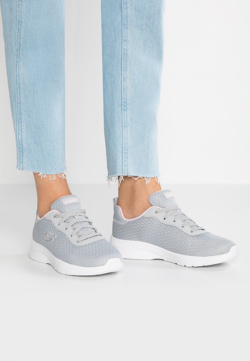 Skechers Sport - DYNAMIGHT 2.0 - Trainers - light gray/pink trim