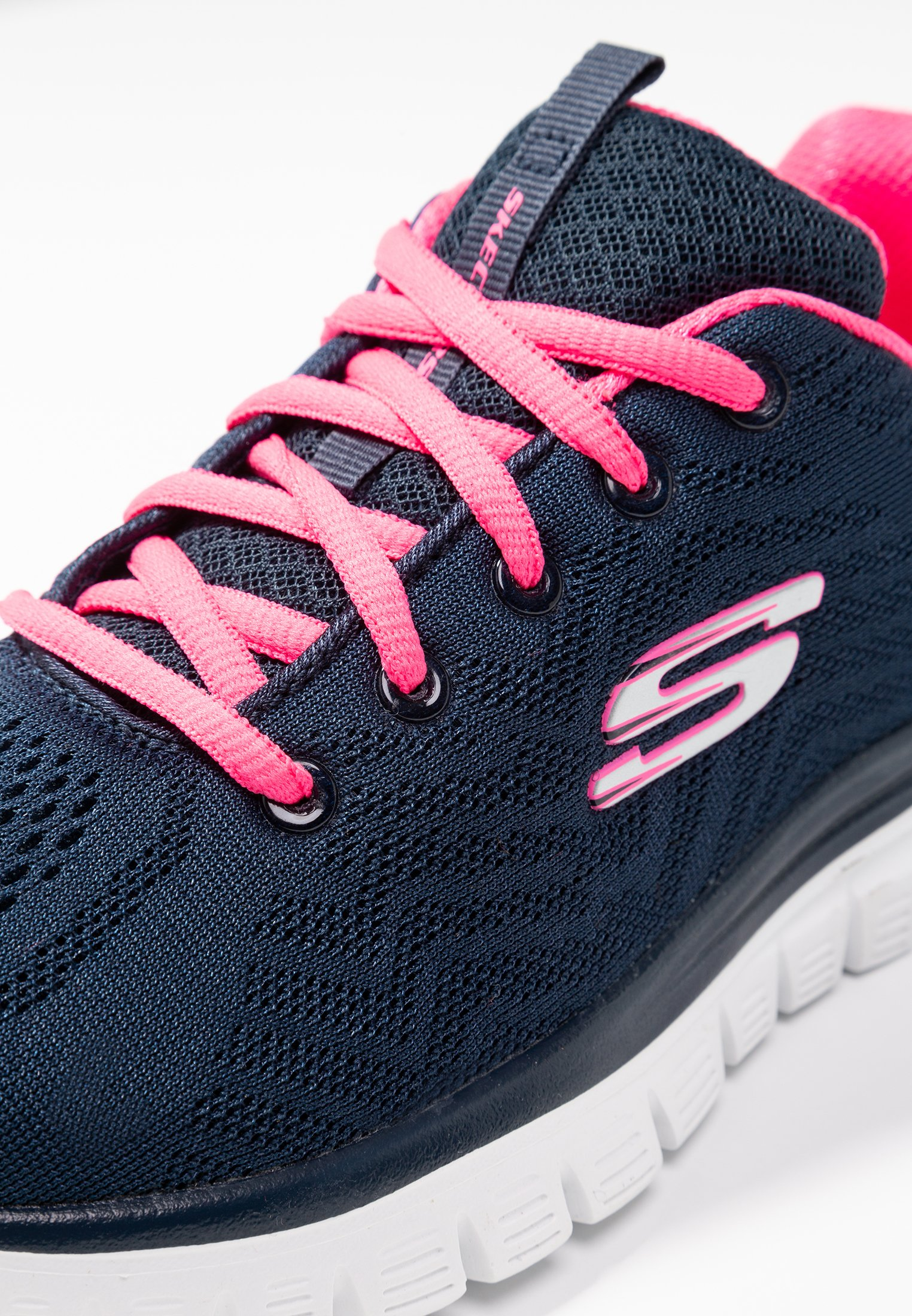 Skechers Sport GRACEFUL - Sneakersy niskie - navy/hot pink