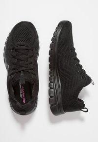 Skechers Sport - GRACEFUL - Sneakers laag - black - 3