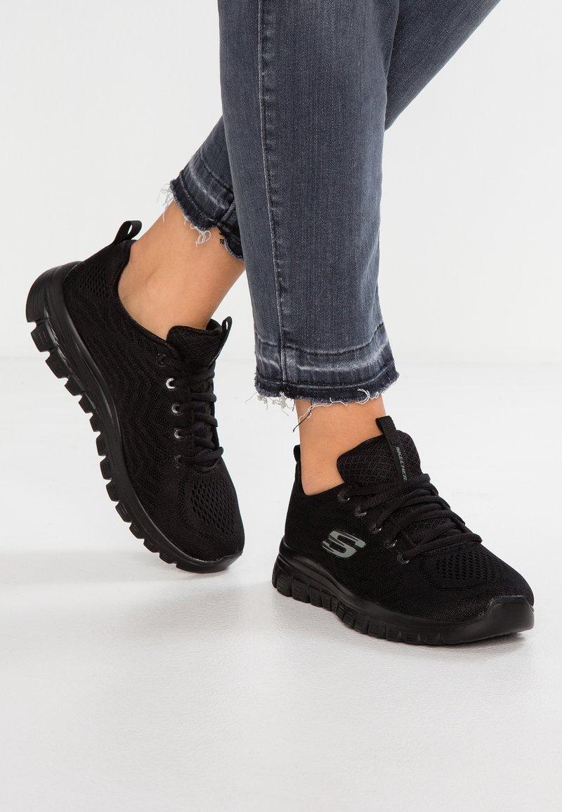 Skechers Sport - GRACEFUL - Sneakers laag - black