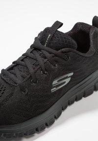 Skechers Sport - GRACEFUL - Sneakers laag - black - 2