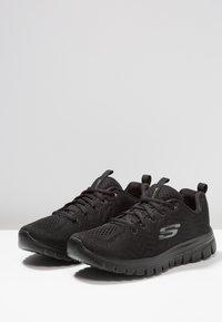 Skechers Sport - GRACEFUL - Sneakers laag - black - 4