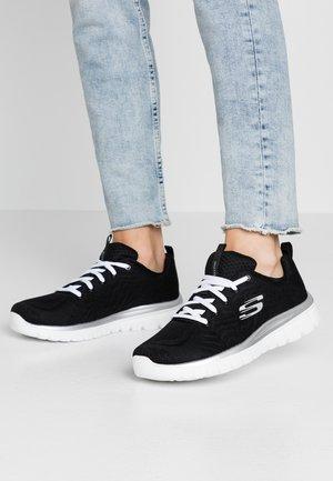 GRACEFUL - Sneakers laag - black/white