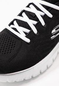 Skechers Sport - GRACEFUL - Sneakers laag - black/white - 2