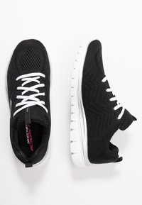 Skechers Sport - GRACEFUL - Sneakers laag - black/white - 3