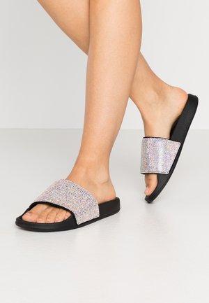 POP UPS - Sandalias planas - black /iridescent