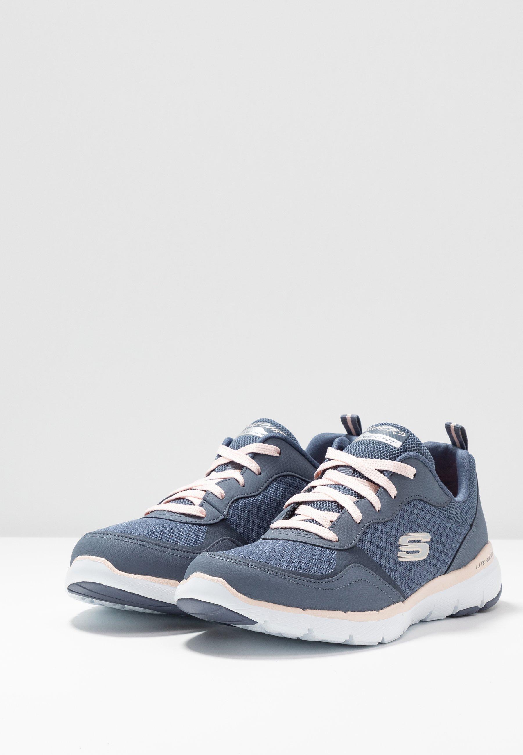 Skechers Sport FLEX APPEAL  - Sneakersy niskie - slate/light pink