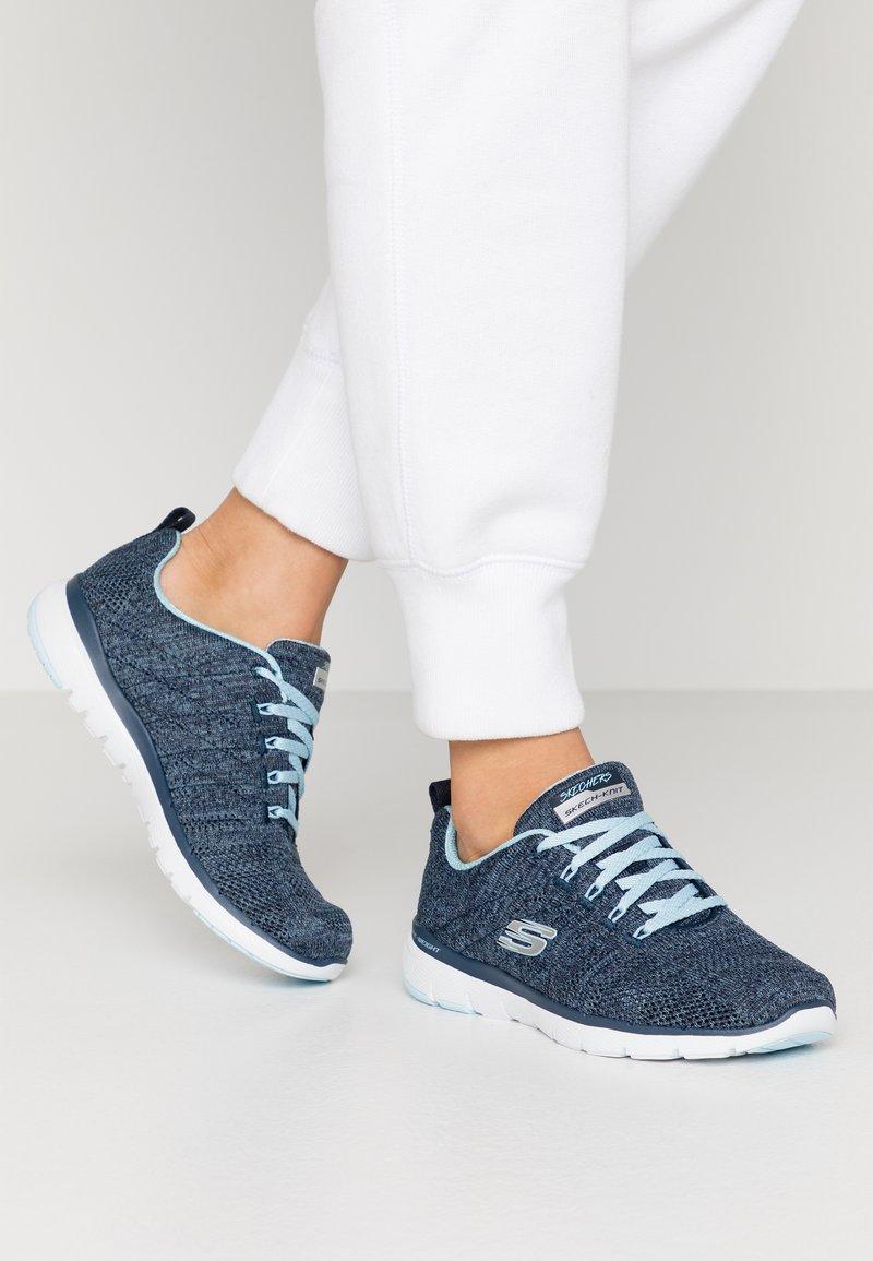 Skechers Sport - FLEX APPEAL 3.0 - Sneaker low - navy/blue