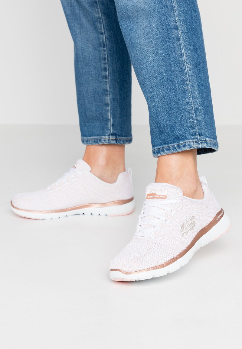 Skechers Sport - FLEX APPEAL 3.0 - Trainers - white/rose gold