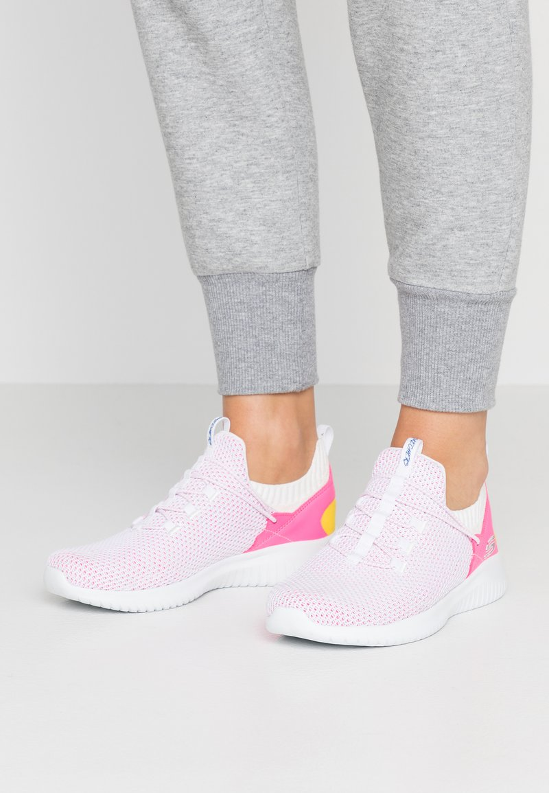 Skechers Sport - ULTRA FLEX - Tenisky - white/pink/multicolor