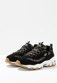 Skechers Sport - D'LITES - Sneakers laag - black/white - 4