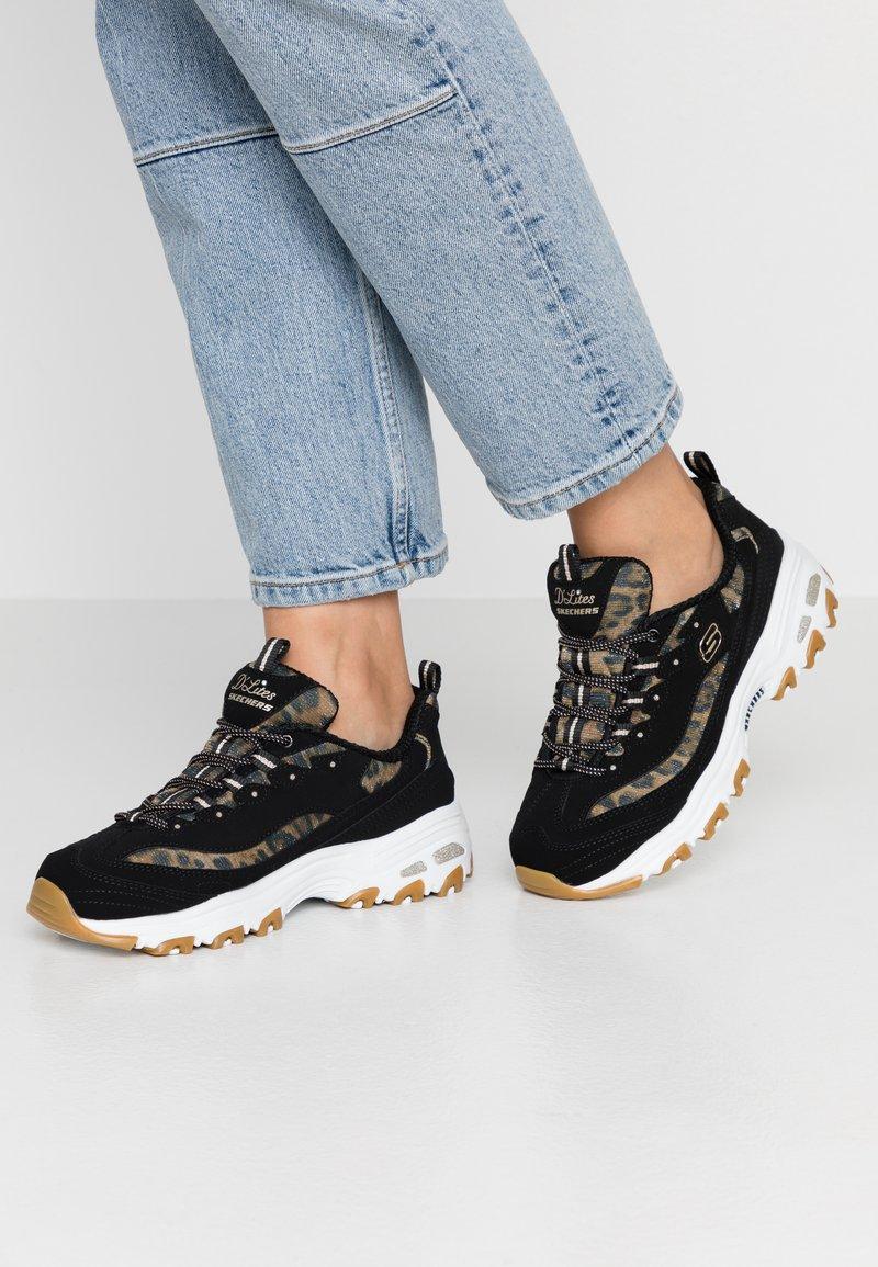 Skechers Sport - D'LITES - Sneakers laag - black/white