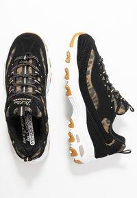 Skechers Sport - D'LITES - Sneakers laag - black/white - 3
