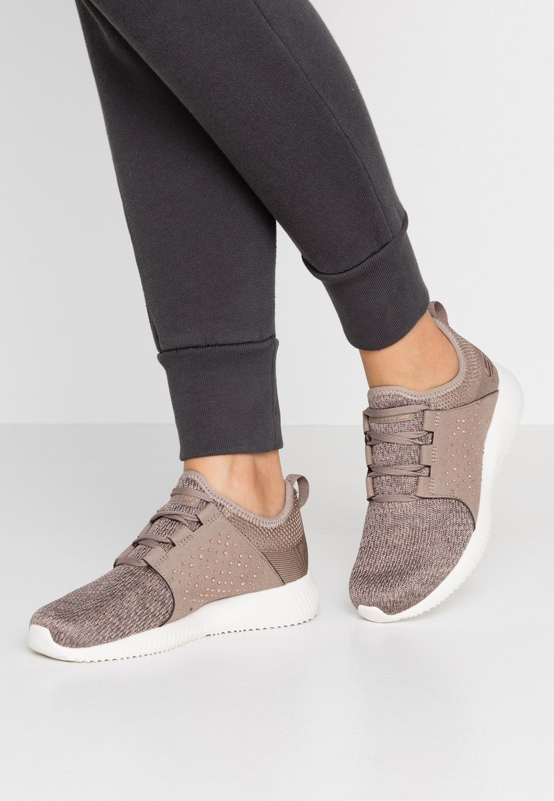 Skechers Sport - BOBS SQUAD - Sneakers - taupe/rhinestone