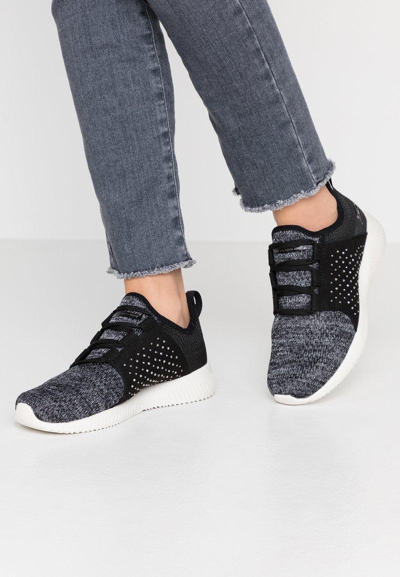 Skechers Sport - BOBS SQUAD - Sneaker low - black /charcoal/rhineston