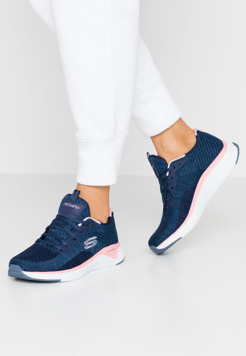 Skechers Sport - SOLAR FUSE - Trainers - navy/pink/white