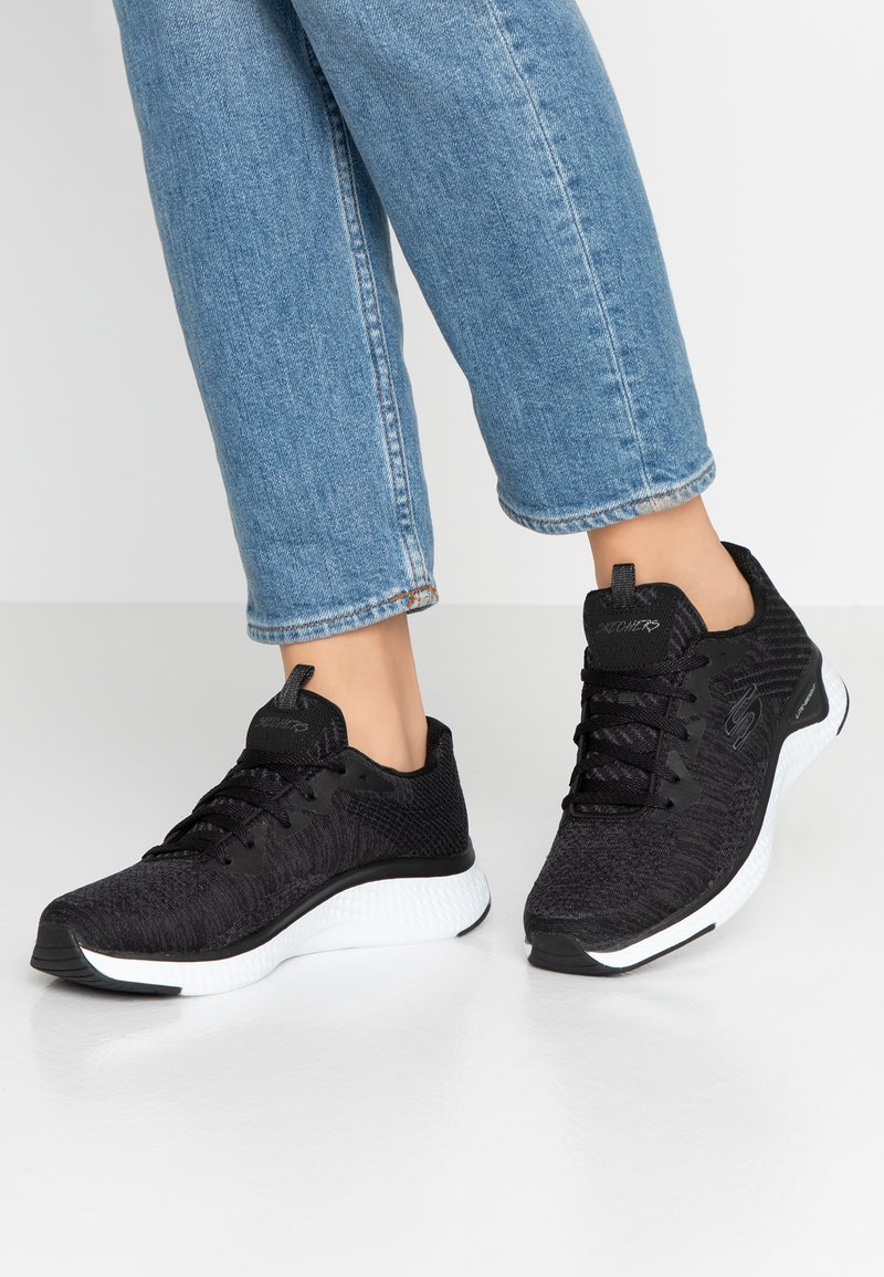 Skechers Sport - SOLAR FUSE - Sneaker low - black/white