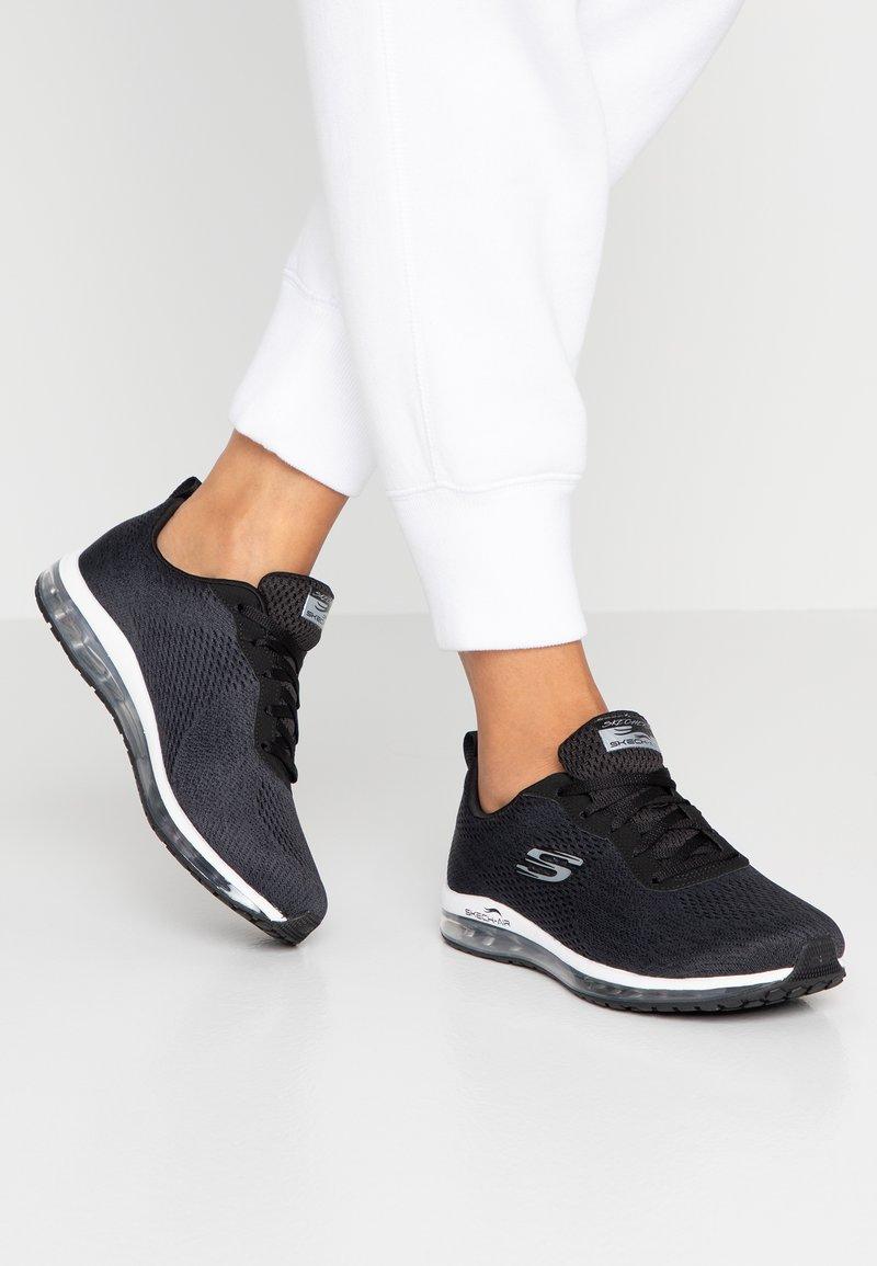 Skechers Sport - SKECH AIR CINEMA - Sneakers laag - black/metallic/white