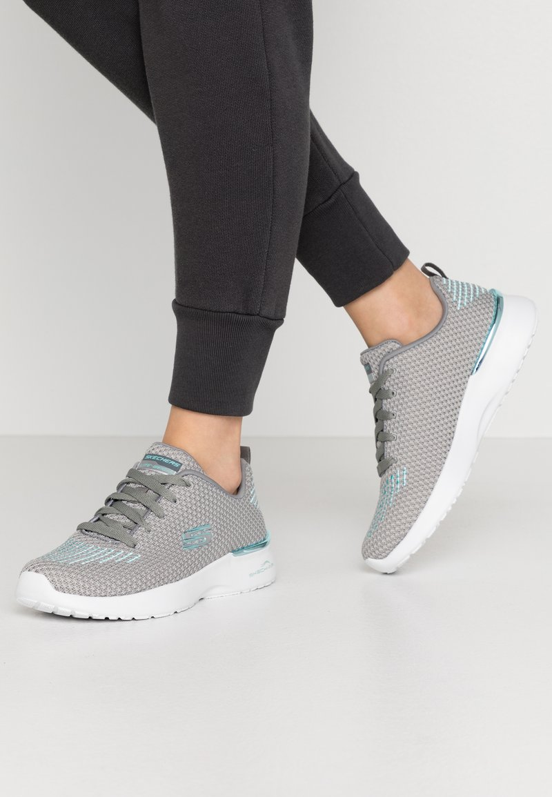 Skechers Sport - SKECH-AIR DYNAMIGHT - Trainers - gray/aqua/white