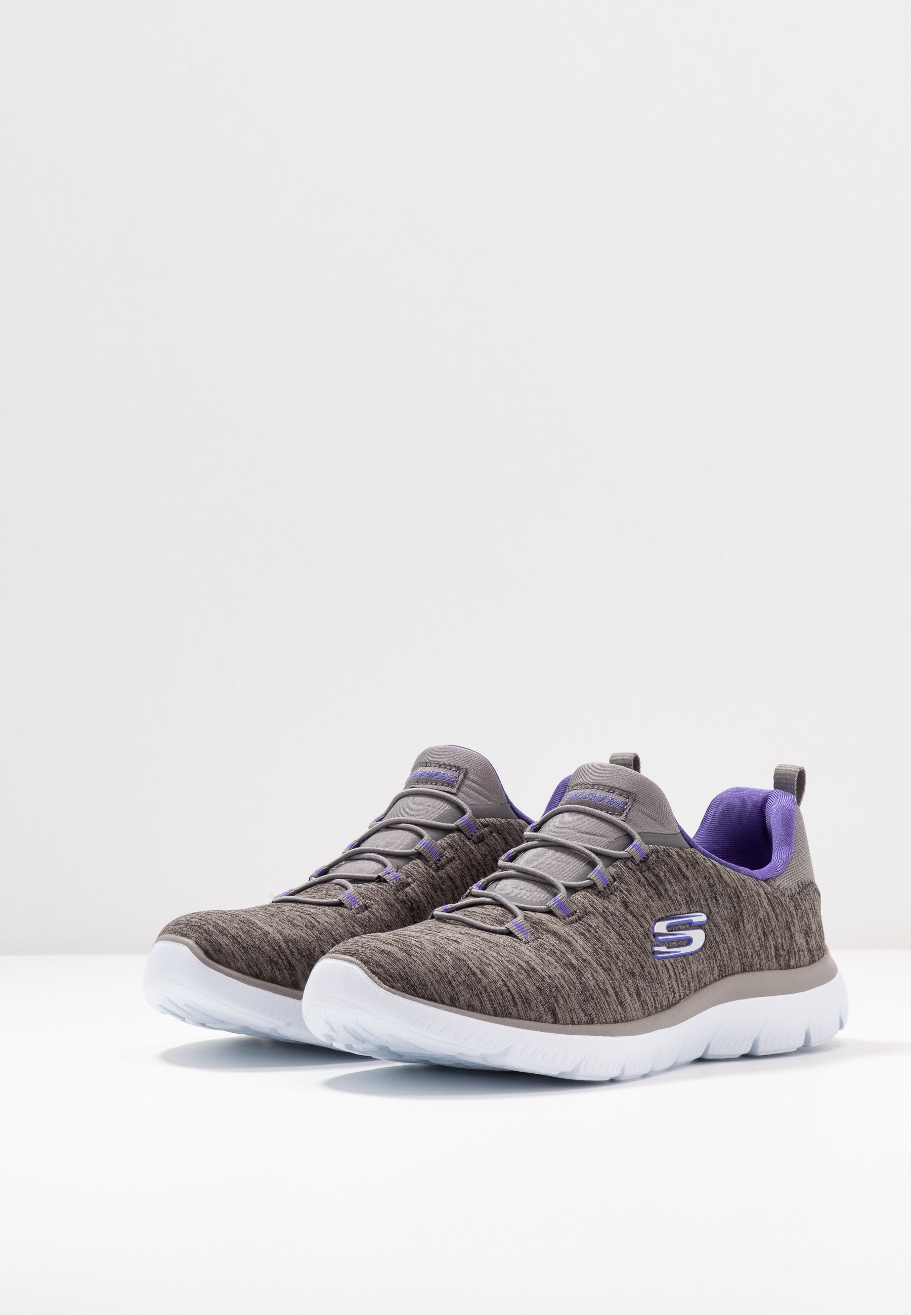 Skechers Sport SUMMITS - Slipper - charcoal/purple - Black Friday