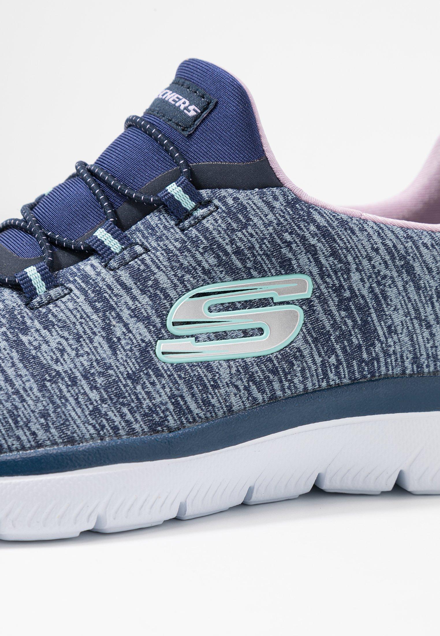 Skechers Sport SUMMITS - Slippers - navy/purple/light blue
